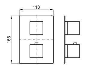 Наружная часть термостата Noken Square 100266846