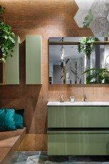 Комплект Oasis Manhattan (тумба+раковина+нижняя тумба+зеркало+2 пенала) Opaco Mint