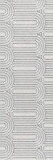 OP/A201/12136R Kerama Marazzi Milano декор Безана серый светлый обрезной 25×75